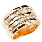 メンズ リング ピンクゴールドk18 メタルバンド 時計 指輪 リング つや消し 18金 男性用 地金 幅広 人気 ストレート 送料無料