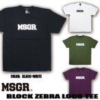 Tシャツ メンズ 半袖 プリント TEE MSGR メッセンジャー アメカジ ストリート系 ファッション BLOCK ZEBRA LOGO TEE