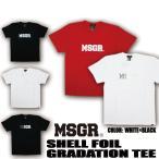 Tシャツ メンズ 半袖 プリント TEE MSGR メッセンジャー アメカジ ストリート系 ファッション SHELL FOIL GRADATION
