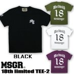 Tシャツ メンズ 半袖 プリント TEE MSGR メッセンジャー アメカジ ストリート系 ファッション 18TH LIMITED TEE-2