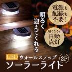 フットライト LED 屋外 おしゃれ 足元ライト 足元灯 ブラケットライト ソーラーライト 小型 軽量 防雨 照明 庭 階段 ステップ SL-D50C