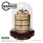 BARIGO バリゴ 温湿気圧計 BG3026 サイズ:Φ120mm ゴールド (ドーム型気象計・木製ベース)
