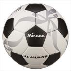 [MIKASA]ミカサ 貼りサッカーボール検定4号球 ALMUNDO (F400KB-WBK) ホワイト/ブラック[取寄商品]