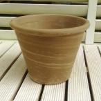 植木鉢 イタリア製 デュオグラファイトバッサム 21cm イタリア鉢 おしゃれ テラコッタ デローマ社 素焼鉢 陶器鉢 園芸 ガーデニング 93070