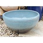 睡蓮鉢 MKS-BL2 水色  11号  ビオトープ創りに 陶器製 水生植物 姫睡蓮やホテイ草に スイレン鉢 すいれん鉢 メダカ鉢 めだか鉢