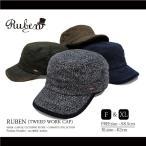 RUBEN / ルーベン 大きいサイズ対応 TWEED WORK CAP ツイード ワークキャップ ウール メンズ レディース 帽子 ゴルフ 秋 冬 FREE フリーサイズ XL ビッグサイズ