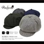 RUBEN / ルーベン 大きいサイズ対応 TWEED CAS 2WAY ヘリンボーン ツイード キャスケット ウール混 メンズ レディース 帽子 キャスハンチング ハンチング ゴルフ
