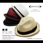 ARROWHEAD / アローヘッド ヘリンボーン ペーパーハット 中折れHAT FREE フリーサイズ XL 大きいサイズメンズ レディース 帽子