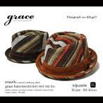 【grace】(グレース) MACRO RAY HAT ZIG XL レイハット 中折れ ポークパイハット 大きいサイズ (XLサイズ) 全2色 メンズ、レディース ハット CAP/HAT
