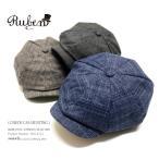 メンズ チェック柄 キャスケット ハンチング ゴルフ 帽子 メンズ帽子 ゴルフ帽子 キャスハンチング RUBEN ルーベン CHECK CAS HUNTING