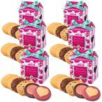 ステラおばさんのクッキー 期間限定 WEB限定メッセージフラワーテントボックス6個セット/17バレンタイン クッキー ギフト 詰め合わせ プレゼント プチギフト