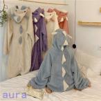 着る毛布 レディース メンズ ルームウェア ロング丈 部屋着 羽織 長袖 ボア フード付き羽織りロング毛布