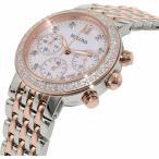 腕時計 ブローバ レディース Bulova Women's 98R215 Quartz Diamonds Mother of Pearl Dial Two-Tone 30mm Watch