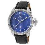 腕時計 ルシアン ピカール メンズ Lucien Piccard Men's 40053-03 Black Genuine Leather Blue Dial Quartz Watch