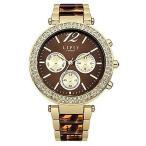 腕時計 リプシー レディース Lipsy Women's Quartz Watch Brown Dial Analogue Display and Two Tone Strap LP467