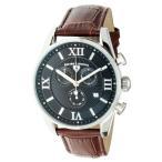 腕時計 スイスレジェンド メンズ Swiss Legend Men's Quartz Watch Black Dial & Brown Leather Strap 22011-01-BRN