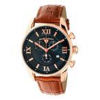 腕時計 スイスレジェンド メンズ Swiss Legend Men's Quartz Watch Black Dial & Brown Leather Strap 22011-RG-01-BR