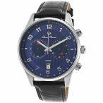 腕時計 ルシアン ピカール メンズ Lucien Piccard Men's 11187-03 Black Genuine Leather Blue Dial Quartz Watch