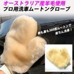 洗車用グローブ ムートン オーストラリア産羊毛 大きいサイズ 360度ムートン 洗車ミトン スポンジ 泡立ち抜群