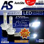 LEDヘッドライト/フォグランプ H4/H8・H9・H11・H16/H10・HB3・HB4/D1・D2・D3・D4/H7/HIR2 4200Lm 6000k 防水 角度調整 コンパクト 小型 12v 普通車 AS80