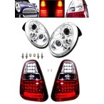 j送込 MINI クーパー R50 R52 R53 LEDヘッドライト&LEDテールSET