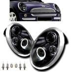 MINI ミニクーパー R50 R52 R53 LEDブラックヘッドライト