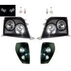 プラド 90 95 黒 LEDイカリングヘッドライト&コーナー SET