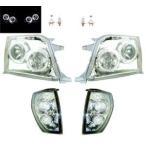 ランクル プラド90 95 LEDイカリングヘッドランプ&コーナーランプSET