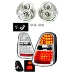 送込MINI ミニクーパー R50 R52 R53 LEDヘッドライト&テール SET