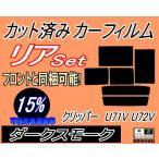 リア (b) クリッパー U71V U72V カット済み カーフィルム 【15%】 ダークスモーク 車種別 スモークフィルム UVカット