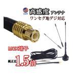 MCX●MCXアンテナ/地デジ 高感度 約13.6cm/ワンセグチューナー受信専用マグネット式ロッドアンテナ/MCX端子 車載用ワンセグアンテナ