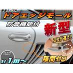 シリコン ドアモール (h型) 灰// グレー 長さ1m  (100cm) 新型 汎用 エッジガード 3M社製 両面テープ 貼付済 風切音 静電気 防止