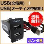 ショッピングホンダ USB2ポート(充電用+音楽中継用) スペアホールキット / (ホンダBタイプ) / (37x24mm) / 1個