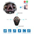 Bluetooth スピーカー&マイク搭載 リモコン調整機能 自転車用スマートヘルメット 黒