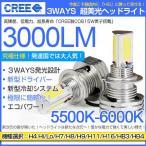 送料無料!【即納】C24 系 セレナ  三面発光設計3000lm!CREE社製 LED ヘッドライト 5500K 白 【H4】  2個セット