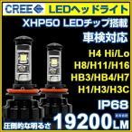 LED ヘッドライト/フォグランプ CREE製XHP50チップ搭載 19200LM 12V/24V  H4Hi/Lo H7/H8/H11/H16/HB3/HB4/H1/H3/H3C 6500K 車検対応 2個set 即納!一年保証!