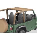 US直輸入正規品 BESTOP(べストップ) ビキニトップ ストラップレスタイプ Jeep(ジープ) Wrangler(ラングラー)  1997-2002年 スパイスカラー