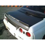 CARSHOP F1 R32 GTR F1リアトランク タイプ2 シルバーカーボン クリア塗装済み