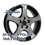 【4枚セット】KIRCHEIS S5 16x6.5 +45 100x5 BLACK POLISH