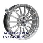 【4枚セット】HRS H-290 17x7.0 +45 100x5 HP-SILVER クーポン配布中