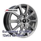 【4枚セット】MANARAY SPORT Eurospeed G-10 12x4.0 +42 100x4 MG