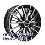 【4枚セット】Verthandi YH-S25 13x4.0 +35 100x4 BK/POLISH