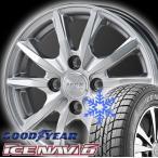 155/65R14 国産スタッドレスタイヤ GOODYEAR グッドイヤー ICE NAVI 6 アイスナビシックス +アルミホイール 4本セット