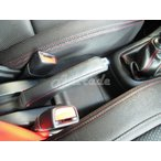 スイフト&スイフトスポーツ 本革サイドブレーキカバー モンタナレザー ハンドブレーキ 赤ステッチ 銀ステッチ 黒ステッチ ZC72S,ZD72S,ZC32S