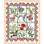 【DMC BK1176】刺しゅうキット Samplers Seasonal Flowers of the Month◆◆ 【C3-7】U-OK