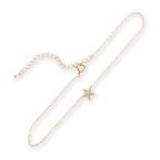 ショッピング星 アンクレット スター 星 レディース ダイヤモンド ダイヤ パヴェ メレダイヤ 18k 18金 K18 大人 女性 上品 かわいい 華奢 ギフト プレゼント 「Star」