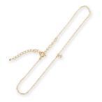 アンクレット レディース ダイヤモンド K18 ゴールド 一粒ダイヤアンクレット 「Pealina」