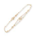 ブレスレット レディース ダイヤモンド K18 ゴールド デザインブレスレット 「Dulles」