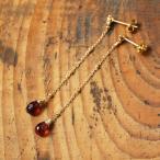 チェーンピアス レディース ガーネット ダイヤモンド k18 18k 18金 ゴールド  Garnet Chain Pierces