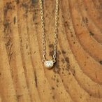 ネックレス レディース ダイヤモンド K18 ゴールド 一粒ダイヤネックレス 「Ortina」